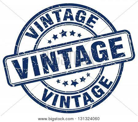 Vintage Blue Grunge Round Vintage Rubber Stamp.vintage Stamp.vintage Round Stamp.vintage Grunge Stam