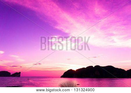 Setting Sun Evening Scene