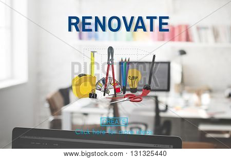 Renovate Craft Creation Ideas Design Art Concept