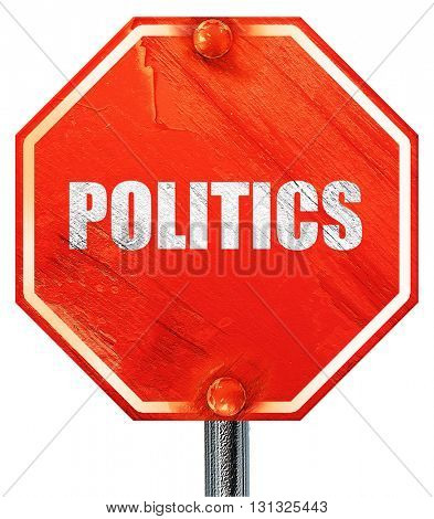politics, 3D rendering, a red stop sign