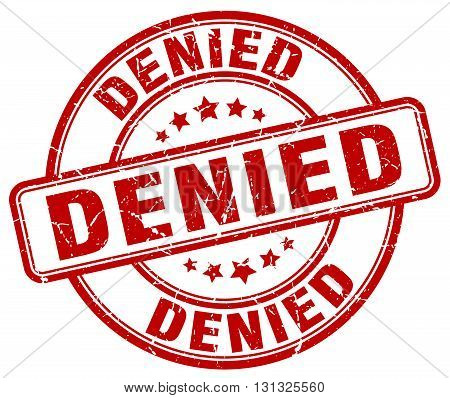 denied red grunge round vintage rubber stamp.denied stamp.denied round stamp.denied grunge stamp.denied.denied vintage stamp.