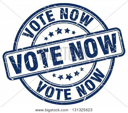 Vote Now Blue Grunge Round Vintage Rubber Stamp.vote Now Stamp.vote Now Round Stamp.vote Now Grunge