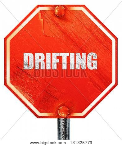 drifting sign background, 3D rendering, a red stop sign