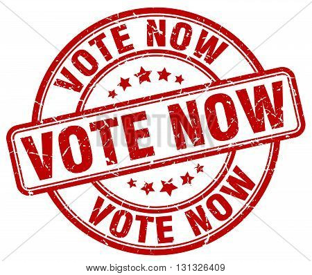 Vote Now Red Grunge Round Vintage Rubber Stamp.vote Now Stamp.vote Now Round Stamp.vote Now Grunge S