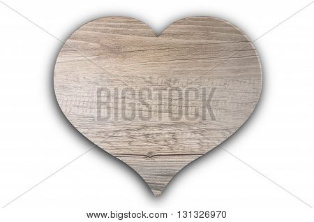 Colorful and crisp image of wooden heart