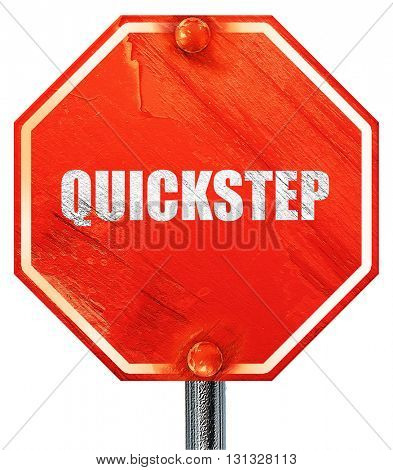 quick step, 3D rendering, a red stop sign