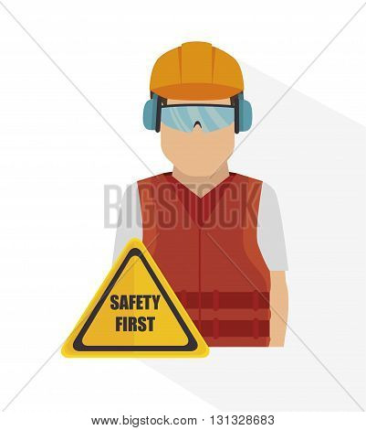 safety equipment design, vector illustration eps10 graphic