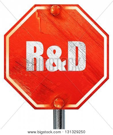 r, 3D rendering, a red stop sign