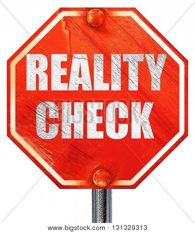 reality check, 3D rendering, a red stop sign