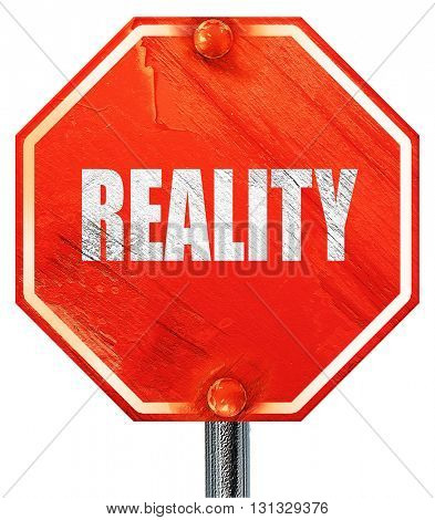 reality, 3D rendering, a red stop sign