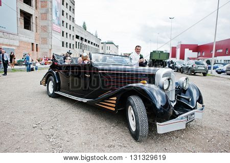 Podol, Ukraine - May 19, 2016: Maybach Zeppelin Ds 8 Roadster, Luxury Classic Car, Built In Stuttgar