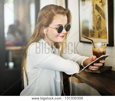 Coffee Shop Connecting Chilling Beverage Relax Concept