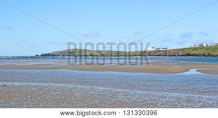 River Teifi estuary on Poppit Sands, Wales