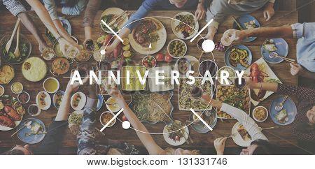 Anniversary Event Annual Celebration Milestone Concept