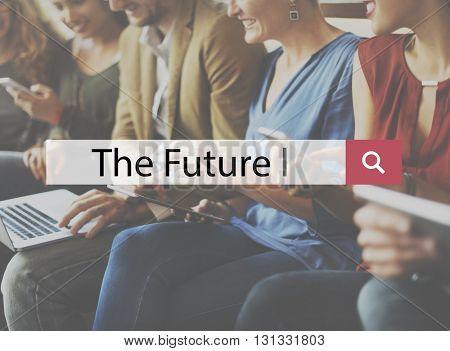 Future Forecast Imagine Progress Strategy Vision Concept