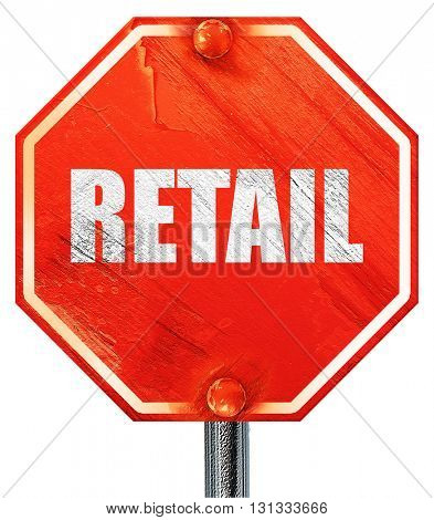 retail, 3D rendering, a red stop sign