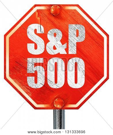 s & P, 3D rendering, a red stop sign
