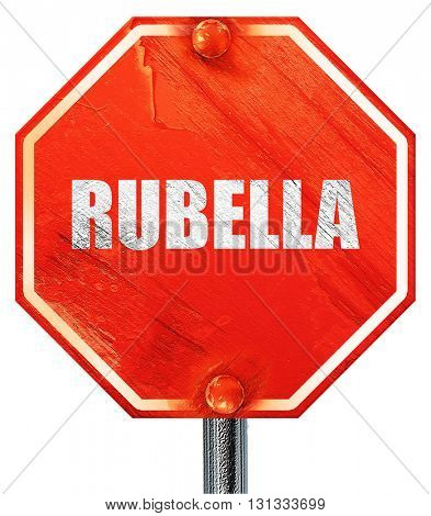 rubella, 3D rendering, a red stop sign