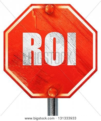 roi, 3D rendering, a red stop sign