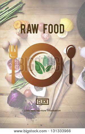 Raw Food Fruit Gourmet Green Healthy Ingredient Concept