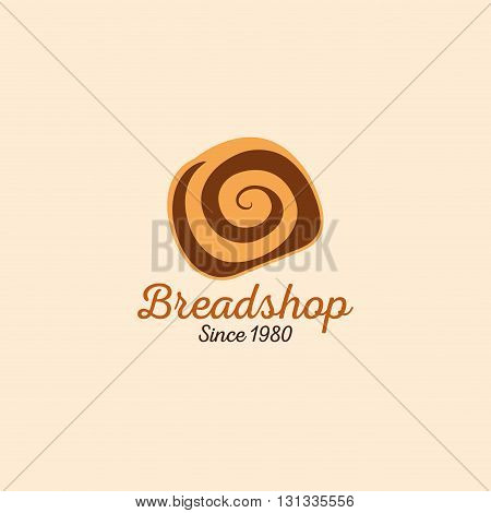 abstract bakery label on a special ligth background