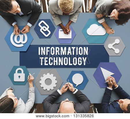 Information Technology Connection Communication Concept