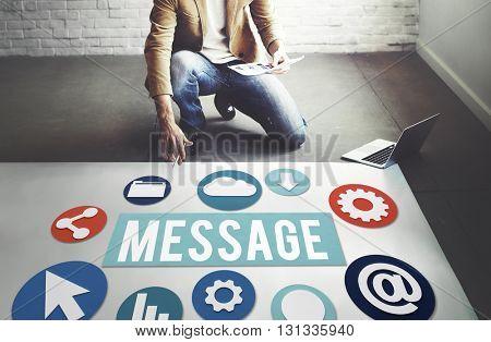 Message Communication Connection Internet technology Concept