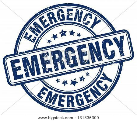 emergency blue grunge round vintage rubber stamp.emergency stamp.emergency round stamp.emergency grunge stamp.emergency.emergency vintage stamp.