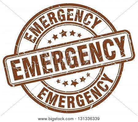 emergency brown grunge round vintage rubber stamp.emergency stamp.emergency round stamp.emergency grunge stamp.emergency.emergency vintage stamp.
