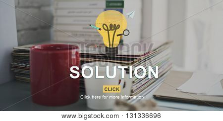 Solution Problem Solving Research Progress Strategy Concept