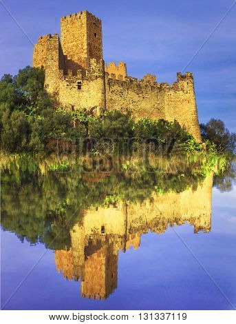 Almourol -castle of Knights Templar , Portugal