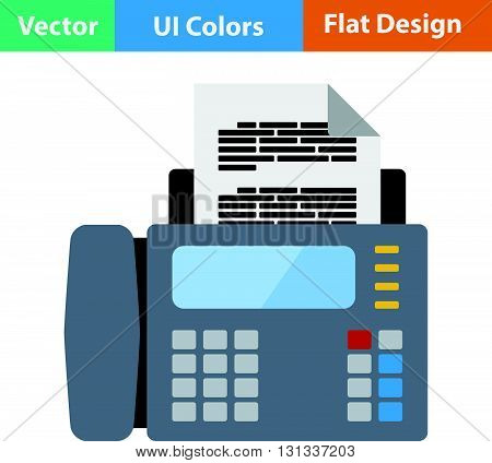 Fax icon. Flat design ui colors.. Vector illustration.