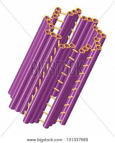 Vector illustration of cylindrical cell structure of centriole.