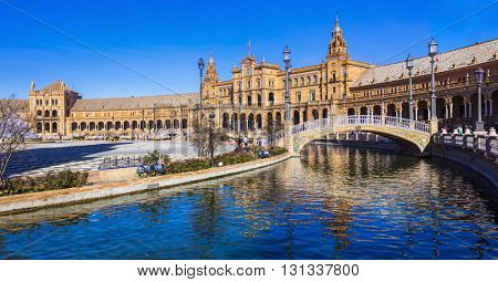 beautiful plaza Espana in Seviglia, Spain