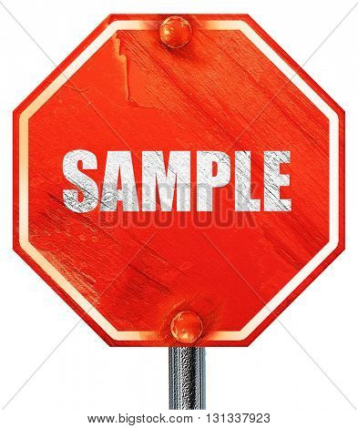 buy now sign, 3D rendering, a red stop sign