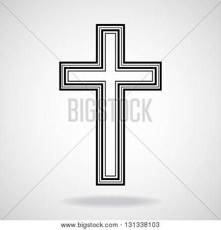 Cross. Christian Symbol. Vector illustration. Eps 10