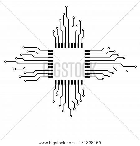 Cpu. Microprocessor. Microchip. Circuit board, technology background