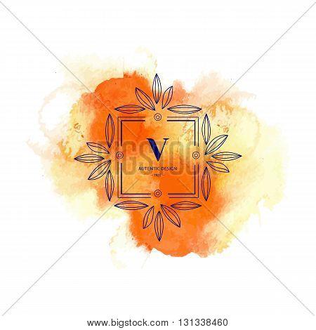Flourishes calligraphic V monogram emblem. Luxury elegant frame ornament line logo design vector illustration. Good for Royal sign, Restaurant, Boutique, Cafe, Hotel, Heraldic, Jewelry, Fashion