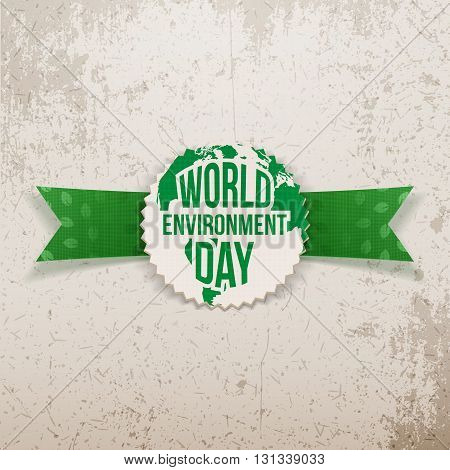 World Environment Day awareness Banner Template. Vector Illustration.