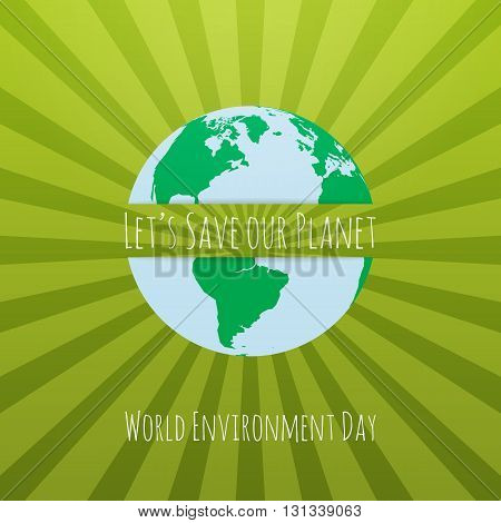 World Environment Day awareness Concept Template. Vector Illustration.
