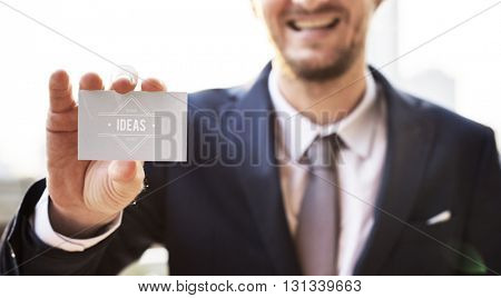 Business Card Idea Businessman Corporate Alliance Concept