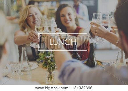 Lunch Food Eating Delicious Party Celebration Concept