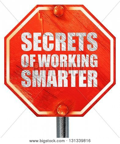 secrects of working smarter, 3D rendering, a red stop sign