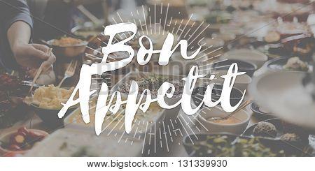 Bon Appetit Food Delicious Meal Concept