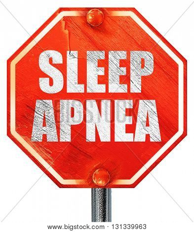 sleep apnea, 3D rendering, a red stop sign