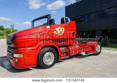 KIEV,UKRAINE - May,21: Customized truck Scania R999 known as