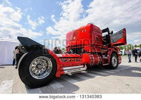 KIEV,UKRAINE - May,21: Customized truck Scania R999 by Svempas Customs