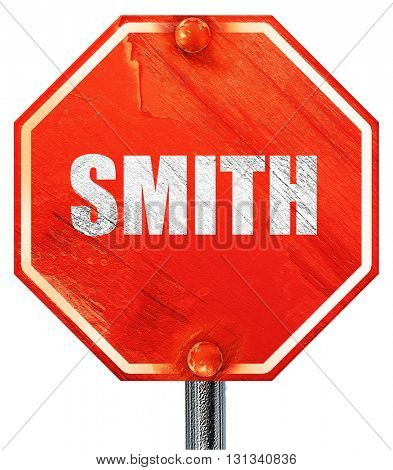smith, 3D rendering, a red stop sign