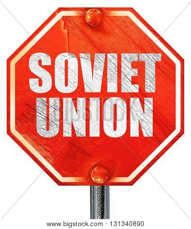 soviet union, 3D rendering, a red stop sign