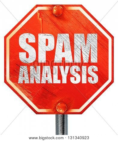 spam analysis, 3D rendering, a red stop sign